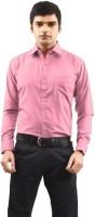 Sttoffa Formal Shirts (Men's) - Sttoffa Men's Solid Formal Pink, Red Shirt