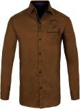 Jazzup Boys Printed Casual Brown Shirt