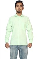 Raghuphool Formal Shirts (Men's) - Raghuphool Men's Solid Formal Linen Light Green Shirt