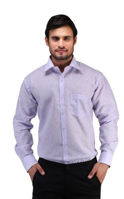 X-Cross Men's Solid Casual Purple Shirt