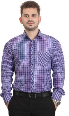 The Standard Men's Printed Casual Purple Shirt