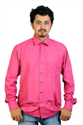 Egoist Men's Solid Formal, Wedding Pink Shirt
