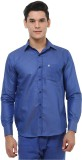 Oxolloxo Men's Solid Casual Blue Shirt