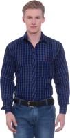 Rpb Formal Shirts (Men's) - RPB Men's Checkered Formal Blue, Black Shirt