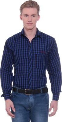 RPB Men's Checkered Formal Blue, Black Shirt