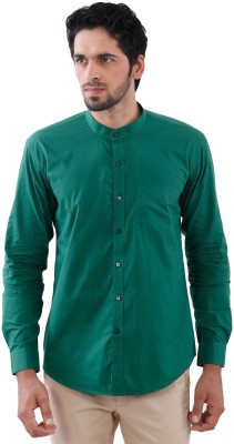 Cairon Men's Solid Casual Green Shirt