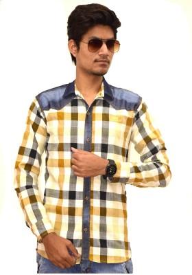 Sharp Fashion Men's Checkered Casual Brown Shirt