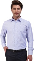 Outdoor Formal Shirts (Men's) - Outdoor Men's Striped Formal Light Blue Shirt