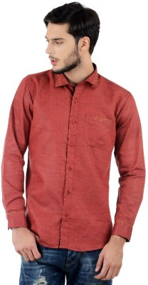 Triple Eight Men's Solid Casual Maroon Shirt