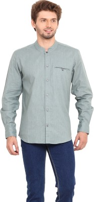 Ekmatra Men's Solid Casual Grey Shirt