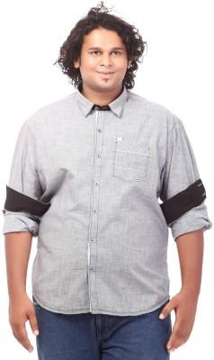 Ciroco Men's Solid Casual Grey Shirt