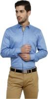 Miche Jeffer Formal Shirts (Men's) - Miche Jeffer Men's Printed Formal Blue Shirt