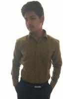 Ze bac Formal Shirts (Men's) - ZE-BAC Men's Self Design Formal Gold Shirt