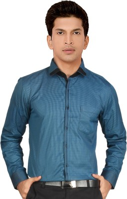 Red Country Men's Checkered Casual Blue Shirt