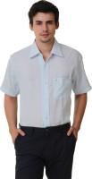 Kwardrobes Formal Shirts (Men's) - Kwardrobes Men's Solid Formal Linen Light Blue Shirt