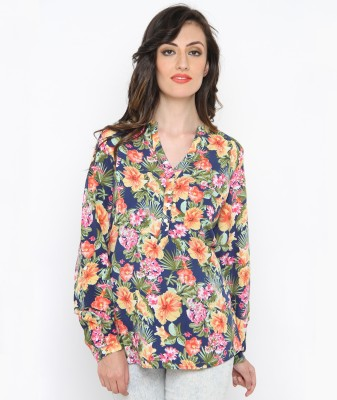 Philigree Women's Floral Print Casual Pink, Blue Shirt