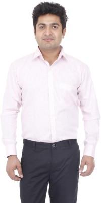 Aces Blue Men's Self Design Formal Pink Shirt