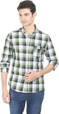 Flippd Men's Checkered Casual Green Shirt