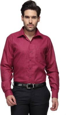 Copperline Men's Solid Casual Pink Shirt