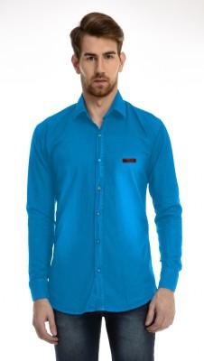AVSPOLO Men's Solid Casual Light Blue Shirt
