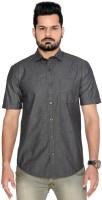 Thinc Formal Shirts (Men's) - Thinc Men's Solid Formal Black Shirt