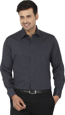 Wills Lifestyle Men's Solid Formal Grey Shirt