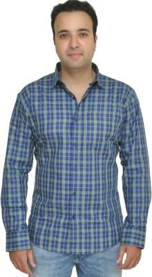 Kings Republic Men's Checkered Casual Blue, Green Shirt