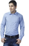 Spaky Men's Solid Casual Blue Shirt