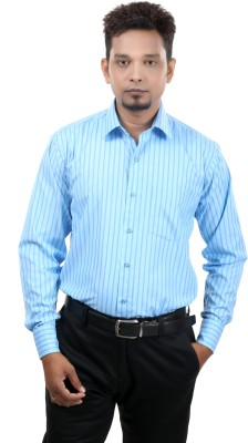 Bellavita Men,s Striped Formal Multicolor Shirt