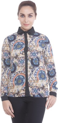 Revoure Women's Printed Casual Multicolor Shirt