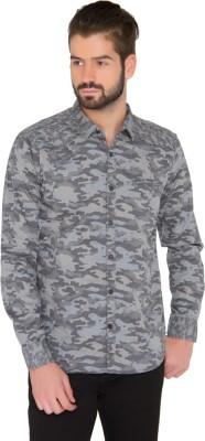 Jadeblue Men's Printed Casual Grey Shirt