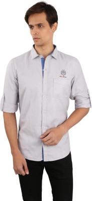 Eden Elliot Men's Solid Casual Grey Shirt