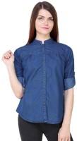 Ivy Women's Clothing - POISON IVY Women's, Girl's Solid Casual Denim Dark Blue Shirt