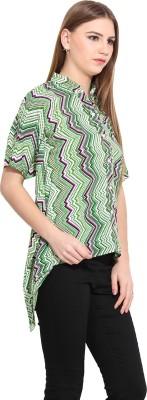 Desi Urban Women's Solid Casual Green Shirt
