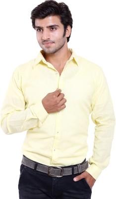 Deeksha Men's Checkered Casual Yellow Shirt