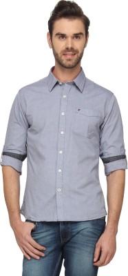 T-Base Men's Solid Casual Blue Shirt