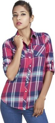 Defossile Women's Checkered Casual Multicolor Shirt