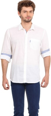 Ekmatra Men's Solid Casual White Shirt