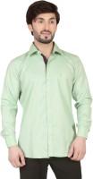 Tomiris Formal Shirts (Men's) - TomIris Men's Solid Formal Green Shirt