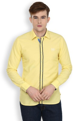 Cotton County Premium Men's Solid Casual Yellow Shirt