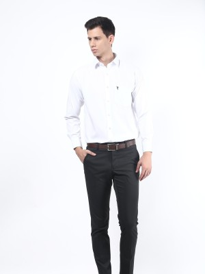 Remo Men's Solid Formal White Shirt