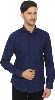 Shubh Shopping Men's Printed Casual Blue Shirt
