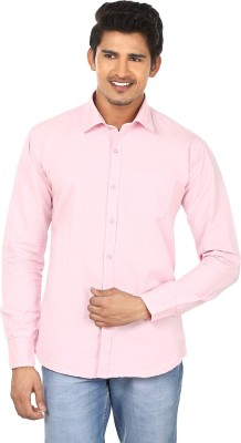 Modish vogue Men,s Solid Casual Pink Shirt
