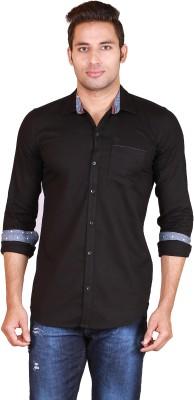Alamurit Men's Self Design Casual Black Shirt