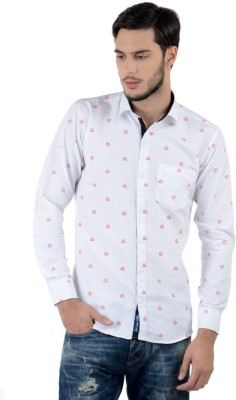 Triple Eight Men's Printed Casual White Shirt