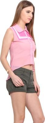 Desi Urban Women's Printed Casual Pink Shirt