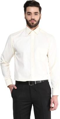 Urban Culture Men's Solid Formal Yellow Shirt