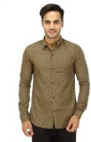 Wineberry Men's Printed Casual Brown Shi...