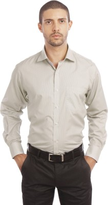Leo Men's Checkered Formal Brown Shirt