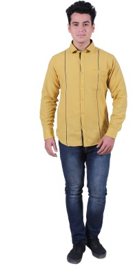 Re Fuel Sport Men's Solid Casual Yellow Shirt